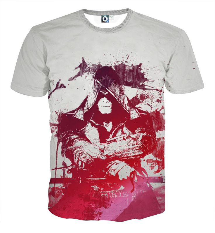 Assassin's Creed Jacob Frye Abstract Design Full Print T-shirt    #Assassin'sCreed #JacobFrye #Abstract #Design #FullPrint #T-shirt