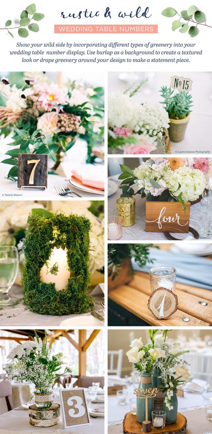 233 Best Table Numbers Images On Pinterest Wedding Table Numbers