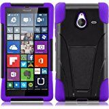 Microsoft Lumia 640 XL Phone Case, [Storm Buy ] Premium Hard & Soft Sturdy Durable Rugged Shell Hybrid Protective [ Anti Scratch ] Phone Case Cover with Built in Kickstand For Microsoft Lumia 640 XL (Purple)