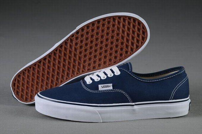 ba823d24d54a0e Vans Authentic Classic Navy Blue Women s Shoes  Vans