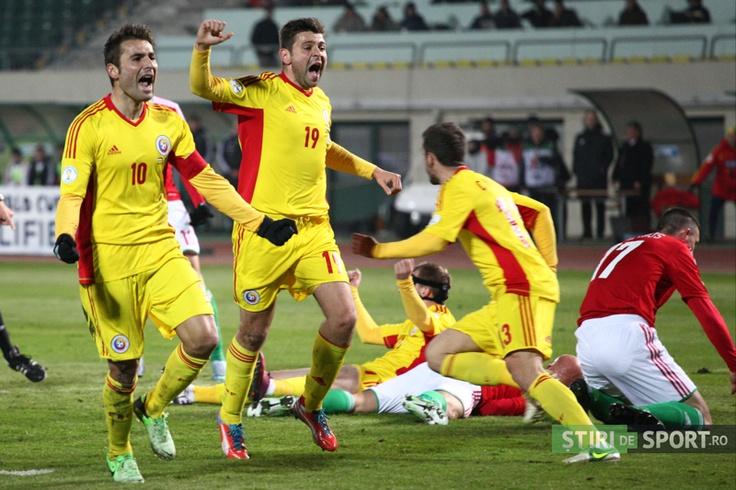 România a înscris prin Chipciu în minutul 93 pentru un egal cu Ungaria , 22.03.2013 / foto: Calin Ilea / stiridesport.ro