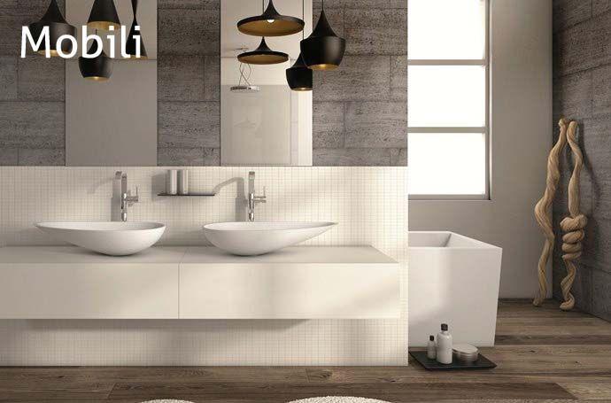 109 best i mobili bagno images on pinterest bathroom for Mobili x il bagno