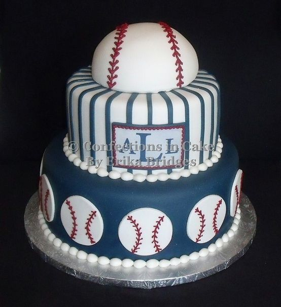 12 best Bryces party images on Pinterest Baseball cakes