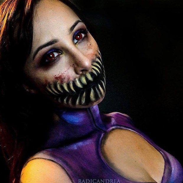 84 best Maquillaje de terror images on Pinterest Artistic make up