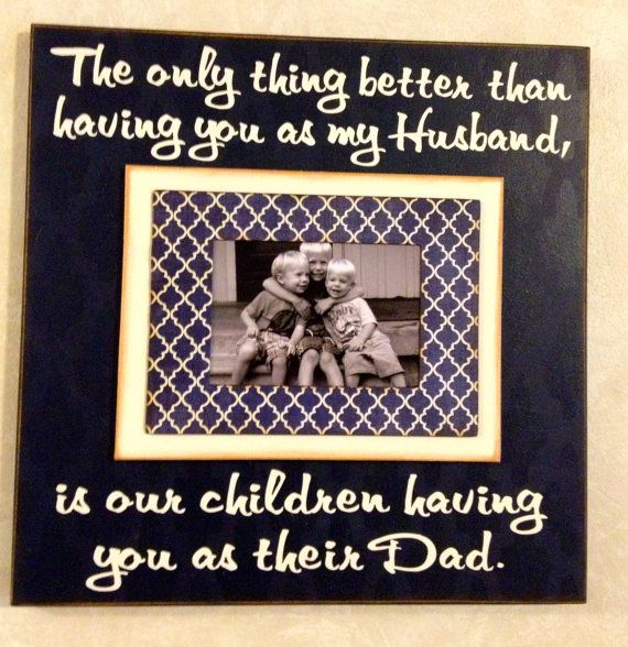 Father's Day Photo Frame from Wife The only thing by MemoryScapes, $36.00