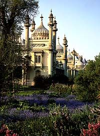 The Royal Pavilion, Brighton, gardens: Originally the building started of as a 'summer house' for the Prince Regent (later King George IV)