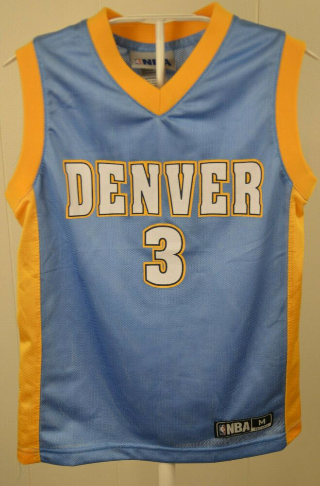save off a9543 c56a3 Denver Nuggets NBA Replica Jersey #3 Ty Lawson Kids Medium 8 ...