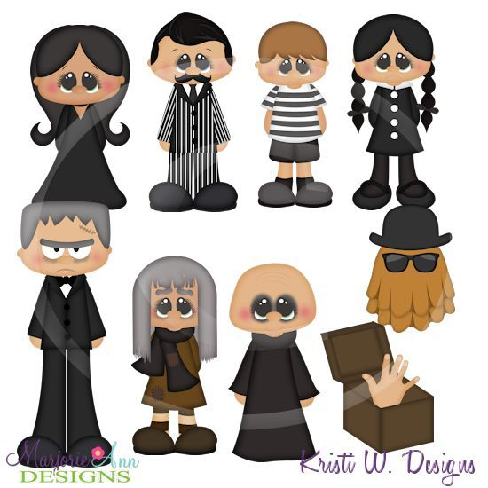addams family character paper cutouts - Google Search