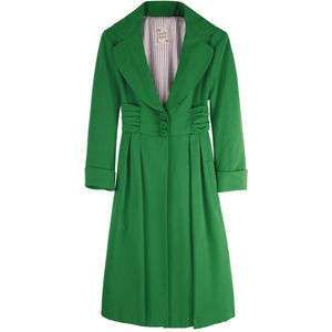 Green Ferry Boat Coat by Nanette Lepore #lifeinstyle #greenwithenvy