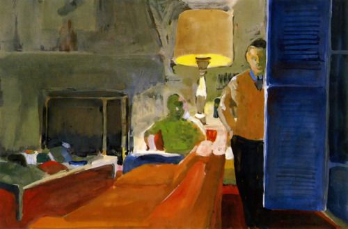 Paul Wonner - Living Room at I's (Christopher Isherwood) -1964