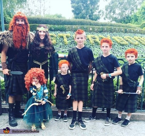 Kim: This year for Halloween we decided our theme was the Disney movie Brave! My daughter Sarah,the only girl after having 4 boys,loves the movie! I bought a whole bolt of...