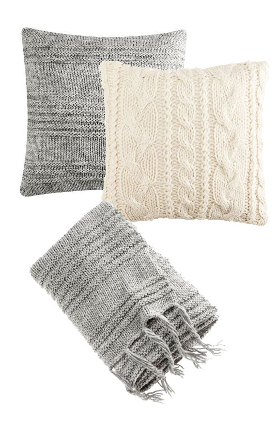 H #home | knitted pillows