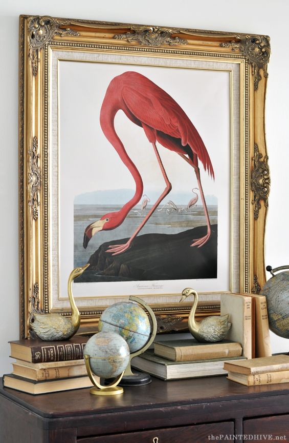 Audubon American Flamingo Free Printable | The Painted Hive