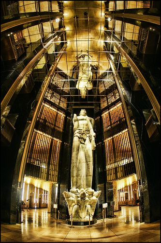 The 'Vision of Peace' statue in the Ramsey County Court House downtown St. Paul, Minnesota by Dan Anderson