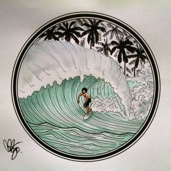 #tattoo #illustration #illustrator #surf #surfrio #surfBarceloneta #california…