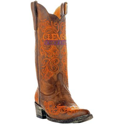Gameday Clemson Tigers Ladies Cowboy Boots - Brown