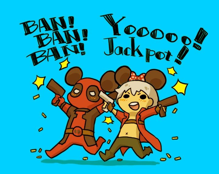 Deadpool and Dante go to Disney World. This is sooo freaking cute!