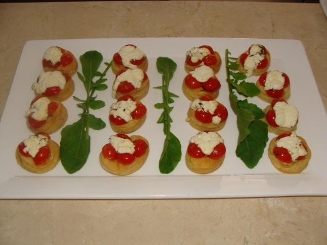 Tomato and Chevin Tartlets