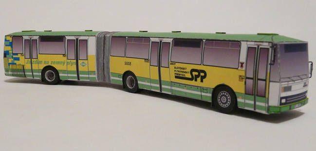 Karosa B 741 Urban Bus Free Vehicle Paper Model Download