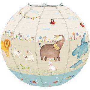 Suspension bébé lanterne en papier les papoum Moulin roty