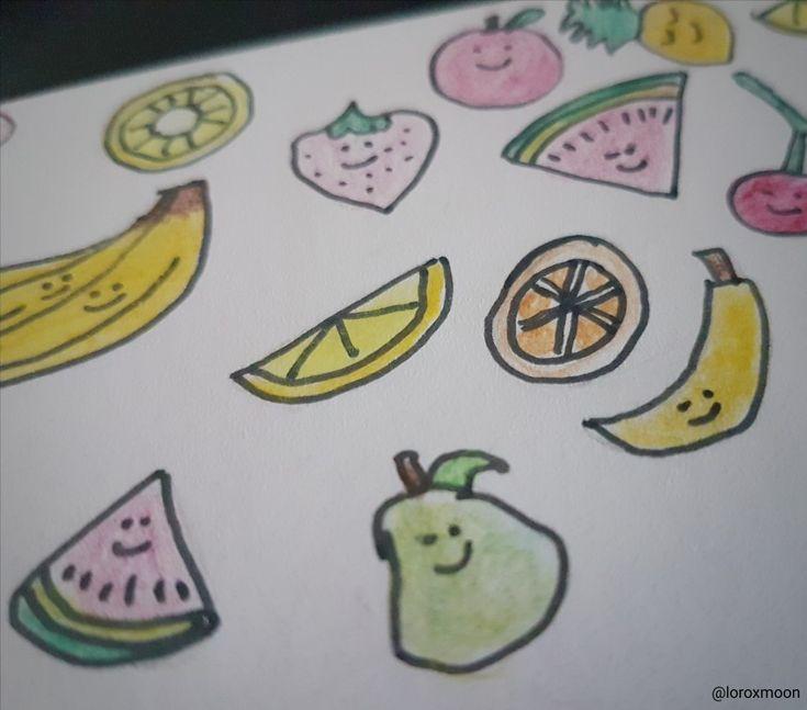 Kawaii Fruits drawing