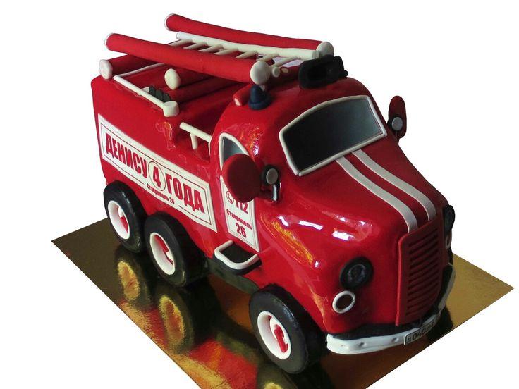"""Торт """"Пожарная машина"""". Торты на заказ в Ставрополе."""
