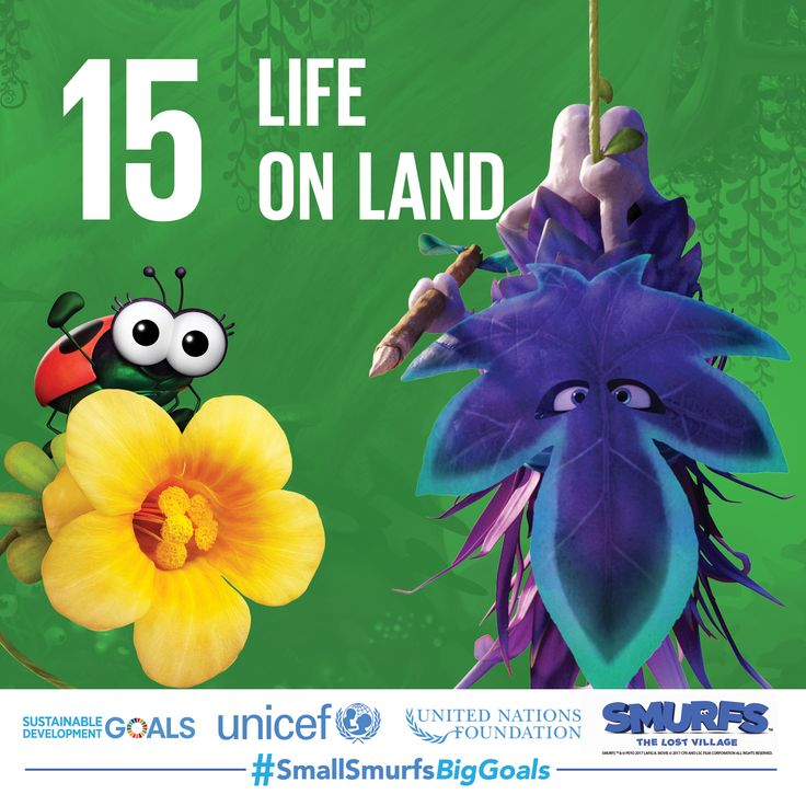 The Smurfs love their planet and all creatures in it, like Snappy Bug! Join #TeamSmurfs to preserve biodiversity by visiting SmallSmurfsBigGoals.com and taking action.  #SmallSmurfsBigGoals