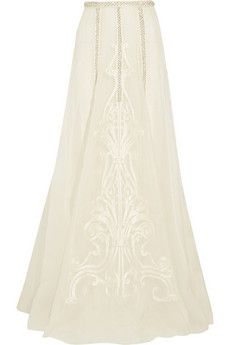 Temperley London Crivelli embellished embroidered silk-organza maxi skirt | NET-A-PORTER