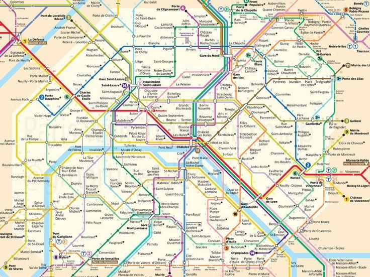 L'infographie du jour : le temps de marche entre chaque station du métro parisien