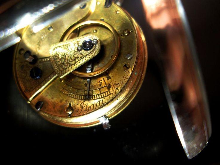 Antique Silver Pocket Watch PRIOR 1882 Working