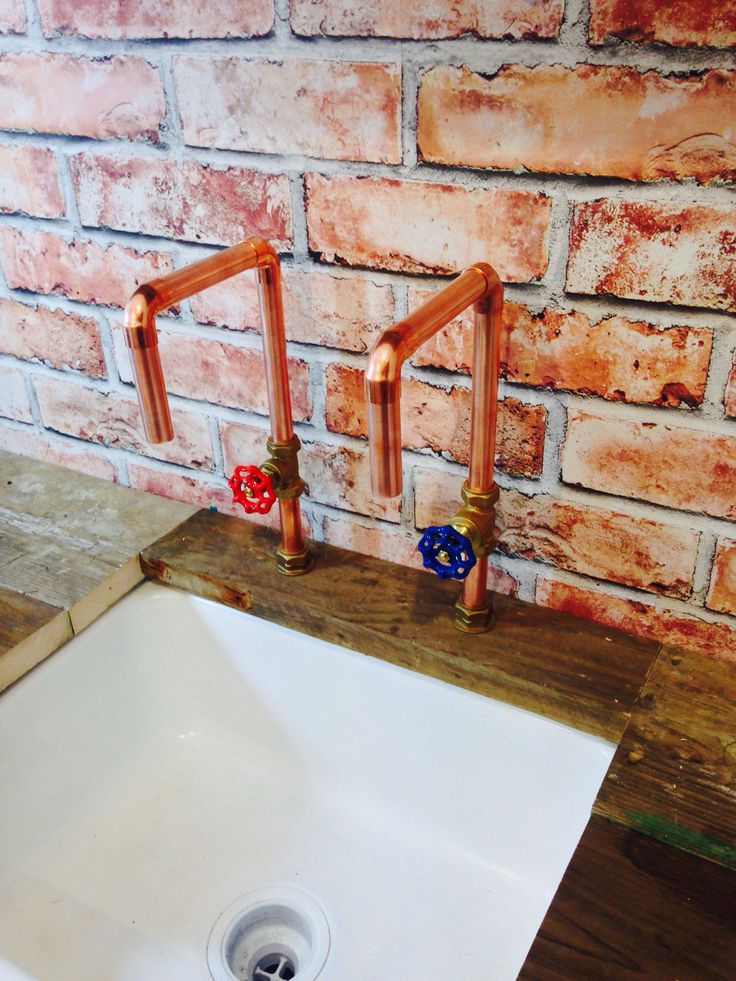 Excited to share the latest addition to my #etsy shop: Handmade 22mm Copper Tap with Red & Blue Gate Valve Industrial Style + Free Shipping http://etsy.me/2COCF0z #housewares #copper #bronze #coppertaps #vintagestyletaps #bespoketaps #brass #designertaps #handmadetaps