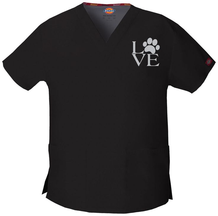 Love Vet Techs (Veterinary Technicians, Veterinarians) - Embroidered Scrub