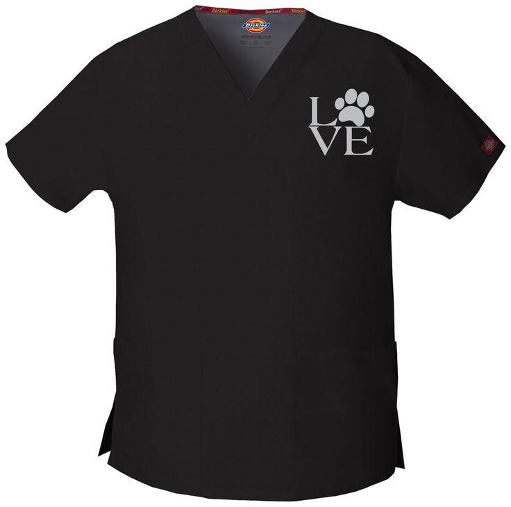 Love Vet Techs (Veterinary Technicians, Veterinarians) - Embroidered Scrub