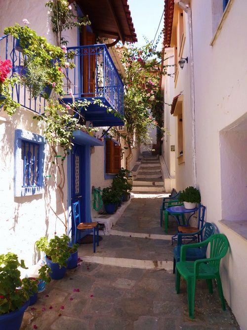 Little Street in Skiathos