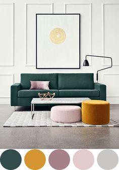 We love these colours! #inspiration palette / soft / pastel / bleu canard / blue / deco / home