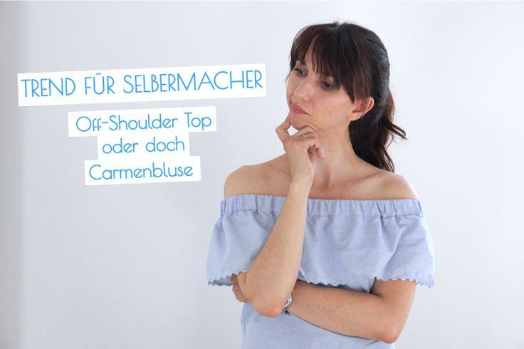 {genäht} – Carmenbluse selber nähen ohne Schnitt   Rapantinchen