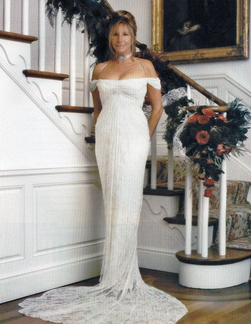 Barbra joan streisand 39 s wedding dress made for her by for Donna karan wedding dresses