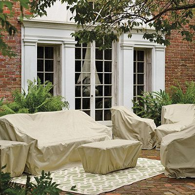 Frontgate Furniture Collection Covers - Capri, Rectangular Dining Table And Chairs - Frontgate