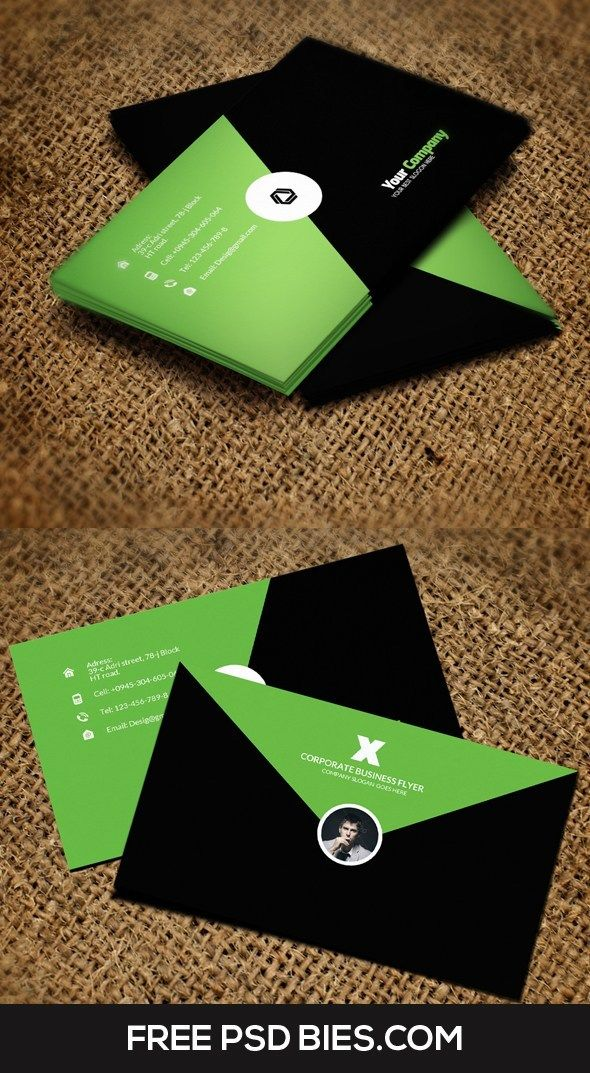 Attractive Two Color Free Creative Business Card Free Pik Psd Business Cards Creative Free Business Cards Business Card Inspiration