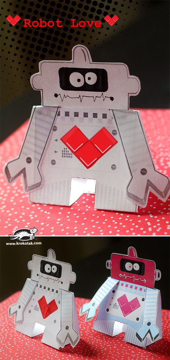 Printable: Colour & Craft robot