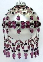 February Amethyst Ornament Pattern by Deb Moffett-Hall aka Patterns to Bead