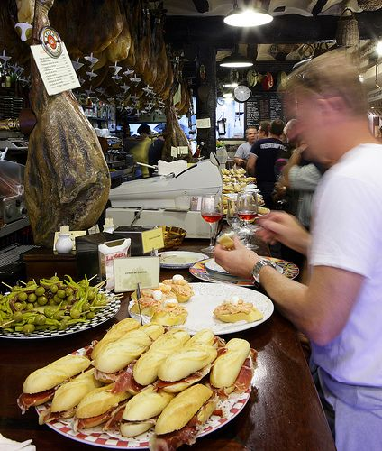 The pintxo bars in San Sebastian make it hard to decide #pintxos #SanSebastian #food