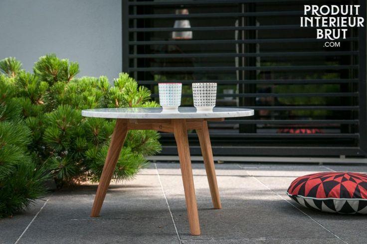 Investeer in materialen die jaren lang meegaan zoals marmer en hout. Leuke salontafel voor bij de bank.