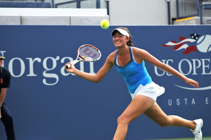 Samantha Crawford (USA) secures her spot in the Junior Girls' Finals by defeating Antonia Lottner (GER)[4] in three sets in the Semis of the US Open. - Mike Lawrence/USTA