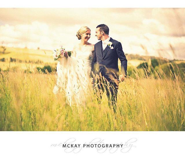 Flashback to Lauren & Rob's summer wedding at @centennialvineyards - I just love shooting in the wide open spaces around Bowral like this grass field  #mckayphotography #wedding #bowralphotographer #bowralwedding #weddingbowral #southernhighlands #centennialvineyards