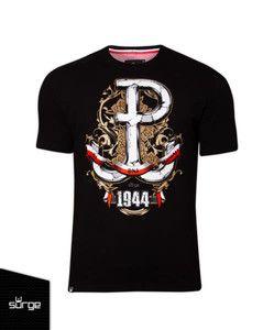 """Koszulka """"63 Dni Chwały"""" czarny melanż"""