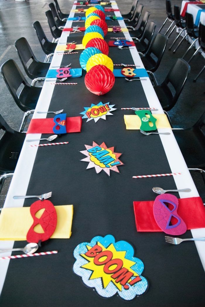 Modern Urban Superhero Party via Kara's Party Ideas