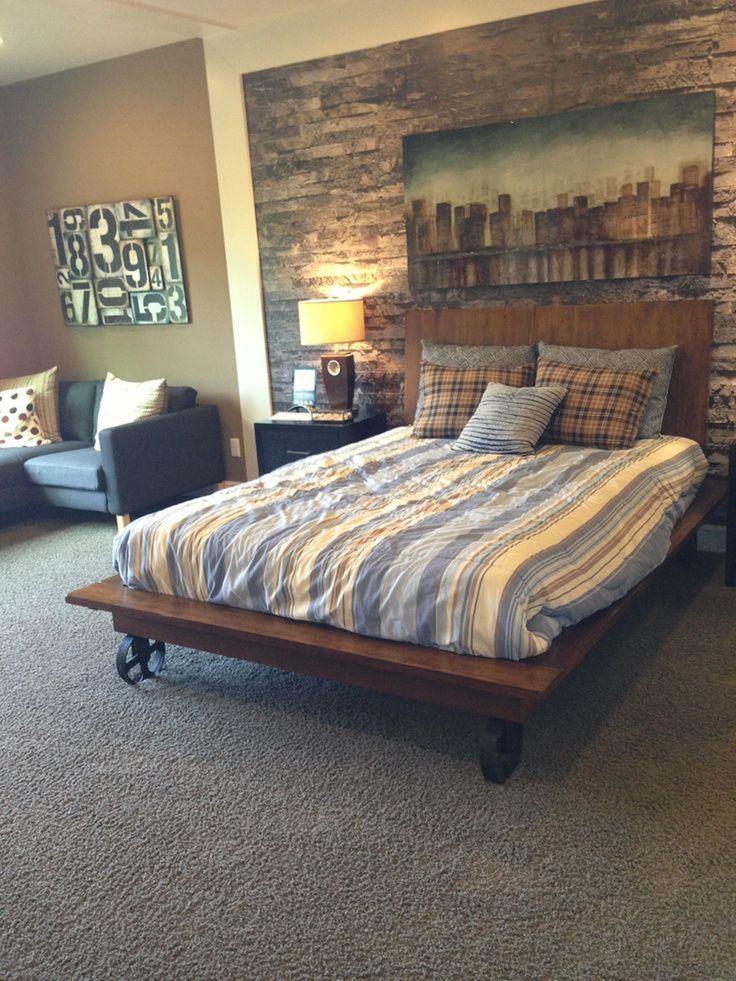 Rustic Bedroom Ideas Regarding Mens Bedroom Ideas With Rustic Brown Color Schemes And Wall