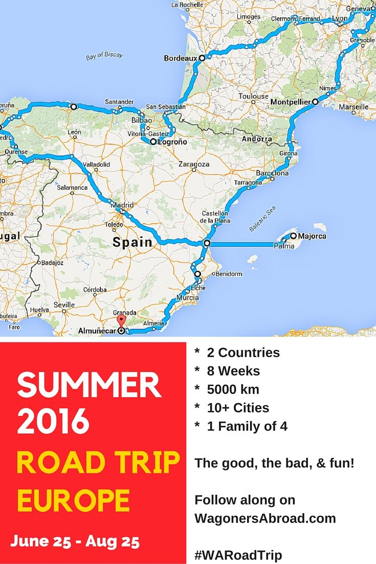 Wagoners Abroad is going on a summer road trip in Europe! That's 8 weeks of fun with more than 10 cities & 2 countries. Read more on WagonersAbroad.com or follow with  #WARoadTrip