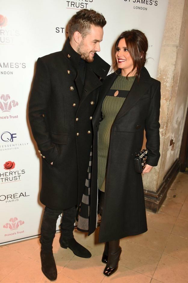 11/29/16 - Liam Payne & Cheryl Cole at St. James Church Trust Event. You can clearly see her little baby bump  #CongratsLiamandCheryl